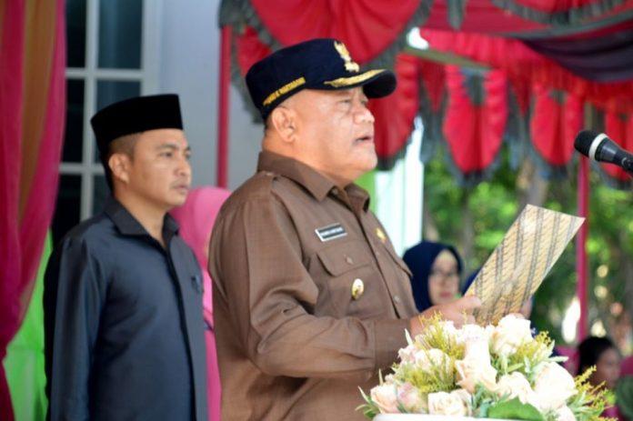 Wabub Bonebol Kilat Wartabone saat Memimpin Upacara Peringatan Hari Patriotik 23 Januari 2020