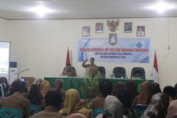 ASN Kabupaten Gorontalo Dibekali Dengan Program Bahasa Inggris.