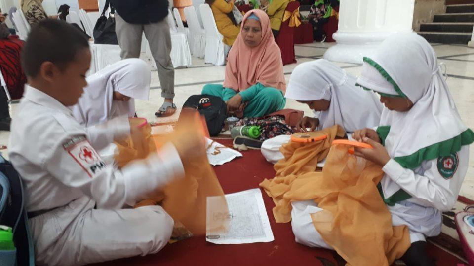Kota Gorontalo Lestarikan Sulaman Karawo dengan mengajarkan keppada siswa SD dan SMP
