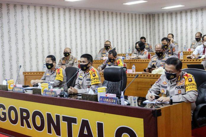 Kapolda Gorontalo Irjen Pol Akhmad Wiyagus Instruksikan Kapolres Tindak Tegas Pelanggar Maklumat Kapolri