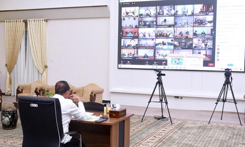 Gubernur Sumut Rakor Virtual dengan Seluruh Kepala Daerah, Bahas Persiapan Vaksinasi Covid-19