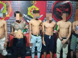 Polresta Gorontalo berhasil amankan 6 pelaku dalam video viral yang memberi minum miras kepada bayi (Foto: Polresta Gorontalo)