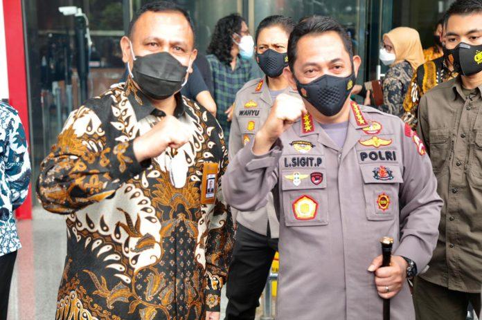 Kapolri Yang Beru Jendral Pol Listyo Sigit Prabowo sambangi KPK