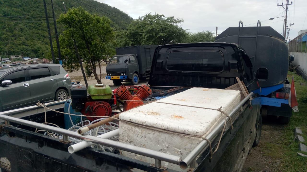 Tiga Pelaku Bom Ikan, Dimankan Fit Polair Polda Gorontalo