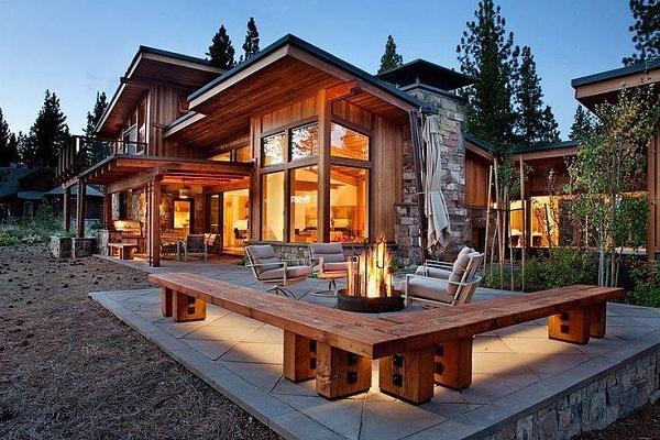 Desain Rumah Kayu Modern dengan Tampilan Lebih Klasik dan Mewah