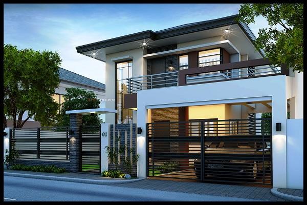Rumah Minimalis Dua Lantai dengan Desain Lebih Simpel Namun Mewah