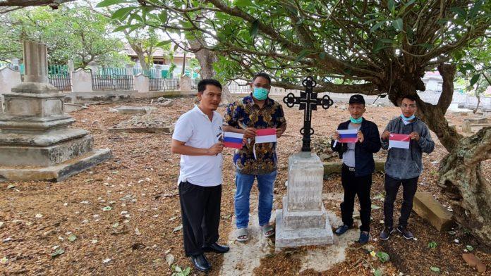 Ketum JMSI teguh Santosa Berkunjung Ke Makam Pahlawan Rusia di Sabang