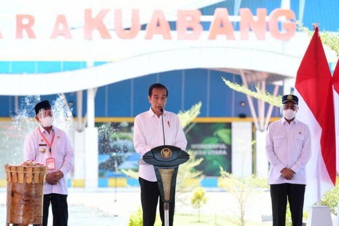Peresmian Kuabang Kao, Jokowi Didampingi Sejumlah Menteri