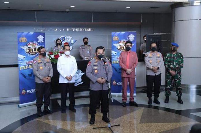 Kapolri Launching E-Tilang secara Nasional, Tahap I Serentak di12 Polda