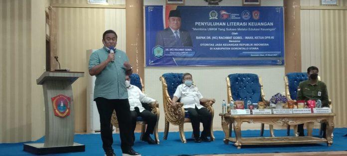 Wakil Ketua DPR Rachmat Gobel melakukan Kunjungan kerja Ke Gorontalo Utara