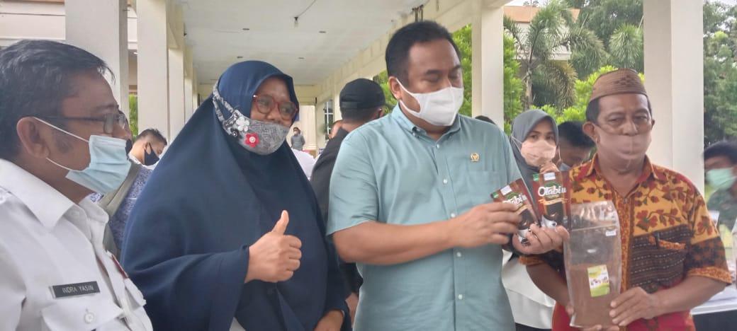 Wakil Ketua DPR Rachmat Gobel melakukan Kunjungan kerja Ke Gorontalo Utara meninaju kelompok usaha
