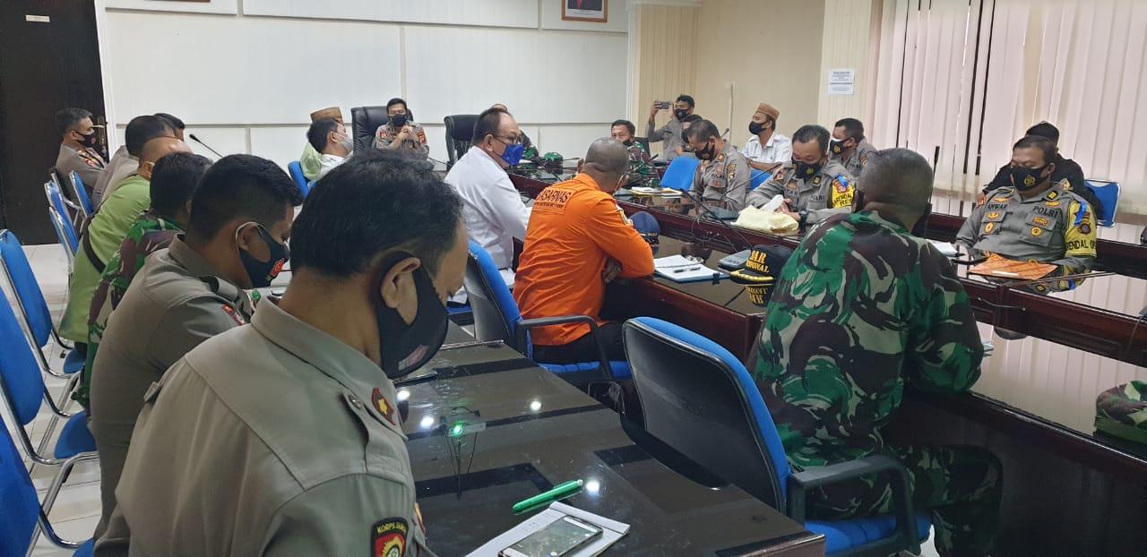 Antisipasi Badai Siklon Tropis 94w, Polda Gorontalo Bersama Intansi Terkait Gelar Rakor