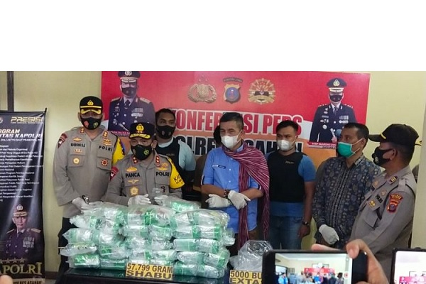 Kasus Penyelundupan Narkoba Terbesar Sumatera Utara Tahun 2021