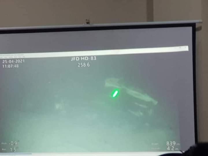 Kondisi KRI Nanggala 402 yang diketemukan dalam kondisi terbelah 3