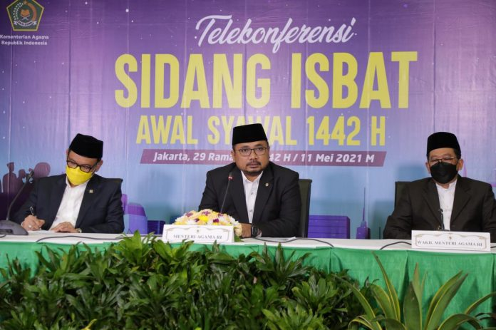 Berdasarkan Sidang Isbat, Pemerintah Tetapkan 1 Syawal Idhul Fitri Jatuh pada Kamis 13 Mei 2021
