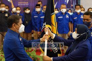 Hamim Pou saat Melantik DPD Nasdem Kota Gorontalo